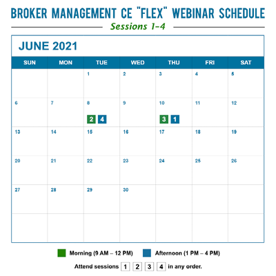 Broker Management CE - Flex Schedule - April 2019